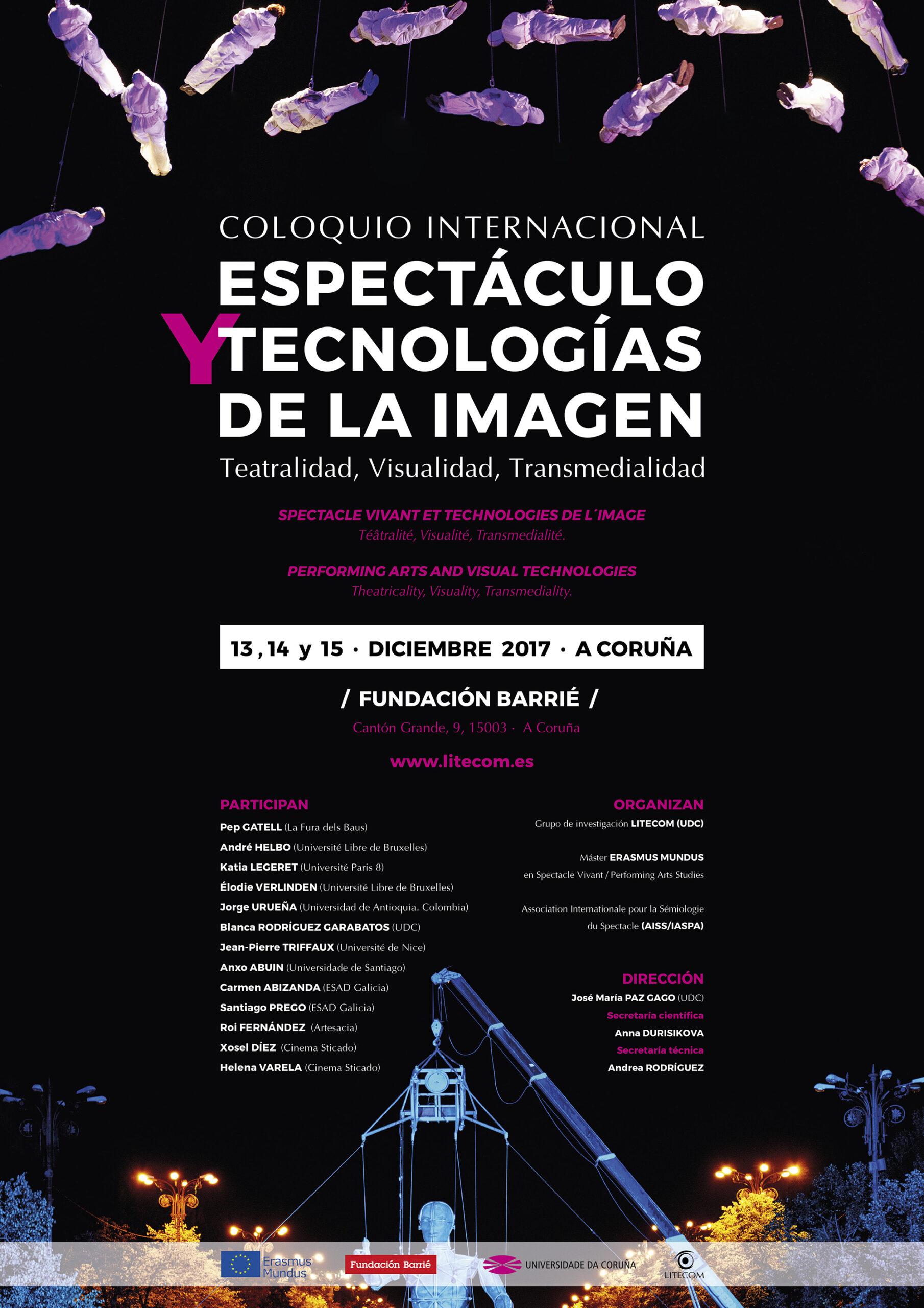 Coloquio Internacional Espectáculo y Tecnologías de la Imagen - Cartel